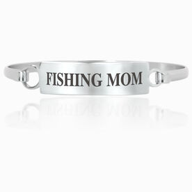 Fly Fishing Engraved Clasp Bracelet - Mom (Text)