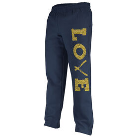 Skiing Fleece Sweatpants Love Ski