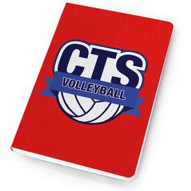 Volleyball Notebook Custom Team Logo