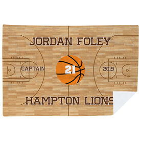 Basketball Premium Blanket - Personalized Basketball Captain