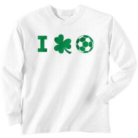 Soccer Tshirt Long Sleeve I Shamrock Soccer