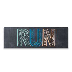 """Running 12.5"""" X 4"""" Removable Wall Tile - Inspire To Run"""
