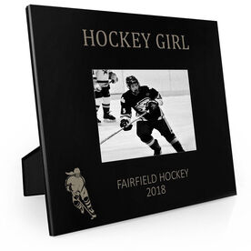 Hockey Engraved Picture Frame Hockey Girl