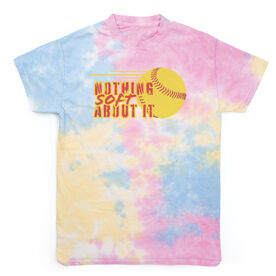 Softball Short Sleeve T-Shirt - Nothing Soft About It Tie Dye