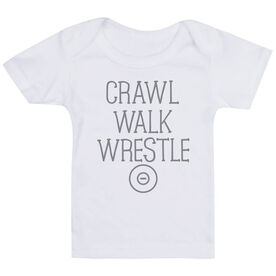 Wrestling Baby T-Shirt - Crawl Walk Wrestle