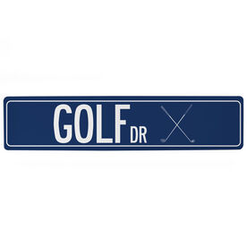 "Golf Aluminum Room Sign - Golf Drive (4""x18"")"
