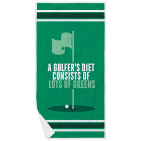 Golf Premium Beach Towel - Golfer's Diet