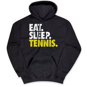 Tennis Hooded Sweatshirt - Eat. Sleep. Tennis.
