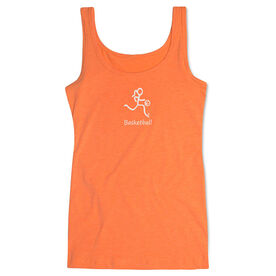 Basketball Women's Athletic Tank Top Stick Figure With Word