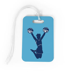 Cheerleading Bag/Luggage Tag - Cheer Silhouette with Pom Poms