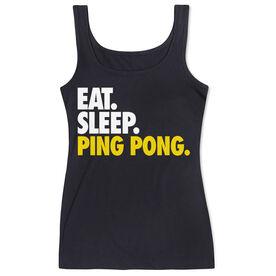 Ping Pong Women's Athletic Tank Top Eat. Sleep. Ping Pong.