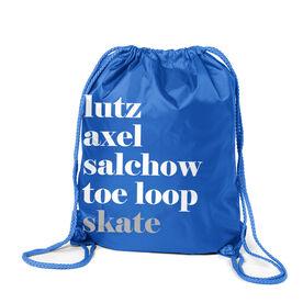Figure Skating Sport Pack Cinch Sack - Skate Mantra