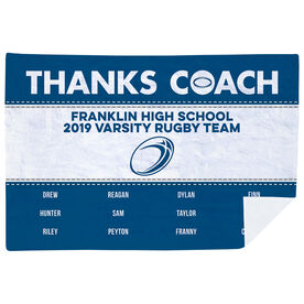 Rugby Premium Blanket - Thanks Coach (Horizontal)