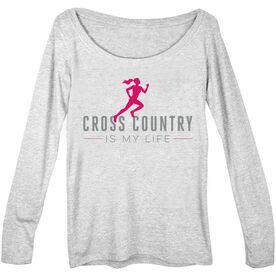 Cross Country Women's Scoop Neck Long Sleeve Tee My Life (Female)