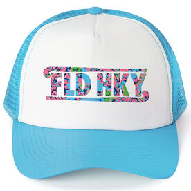 Field Hockey Trucker Hat - Floral Field Hockey