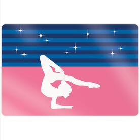 "Gymnastics 18"" X 12"" Aluminum Room Sign - Spotlight Stripes"