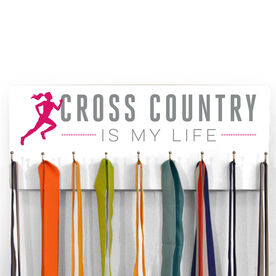 Cross Country Hooked On Medals Hanger My Life (Female)