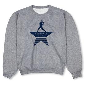 Softball Crew Neck Sweatshirt - Make History
