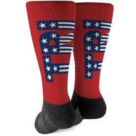Triathlon Printed Mid-Calf Socks - Tri Patriotic