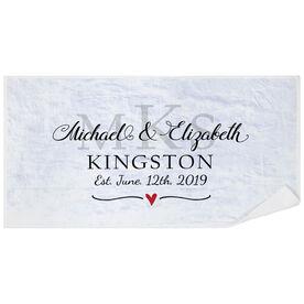 Personalized Premium Beach Towel - Monogram Wedding Anniversary