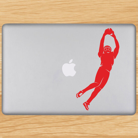 Football The Perfect Catch Silhouette Removable ChalkTalkGraphix Laptop Decal