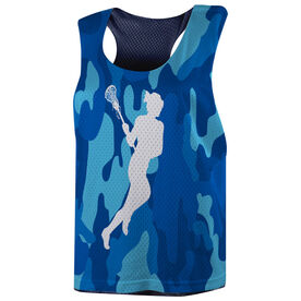 Girls Lacrosse Racerback Pinnie - Camouflage Lax Girl