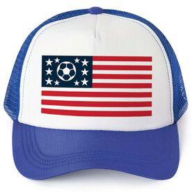 Soccer Trucker Hat - American Flag