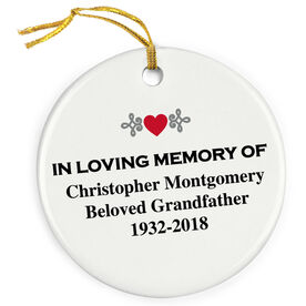 Personalized Porcelain Ornament - In Loving Memory Of (Text)