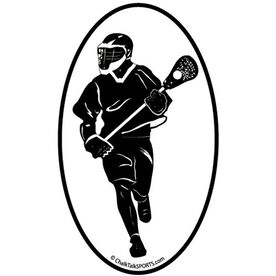 Fast Break Lacrosse Oval Car Magnet (Black)