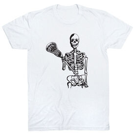 Guys Lacrosse Short Sleeve T-Shirt - Skeleton (Black)