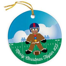Football Porcelain Ornament Gingerbread Man