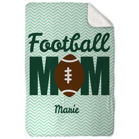 Football Sherpa Fleece Blanket That's My Mom