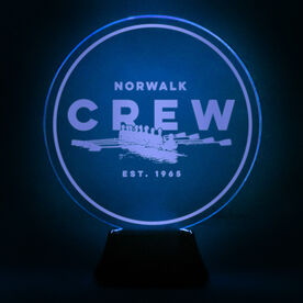 Crew Acrylic LED Lamp Boat With Team Name and Year