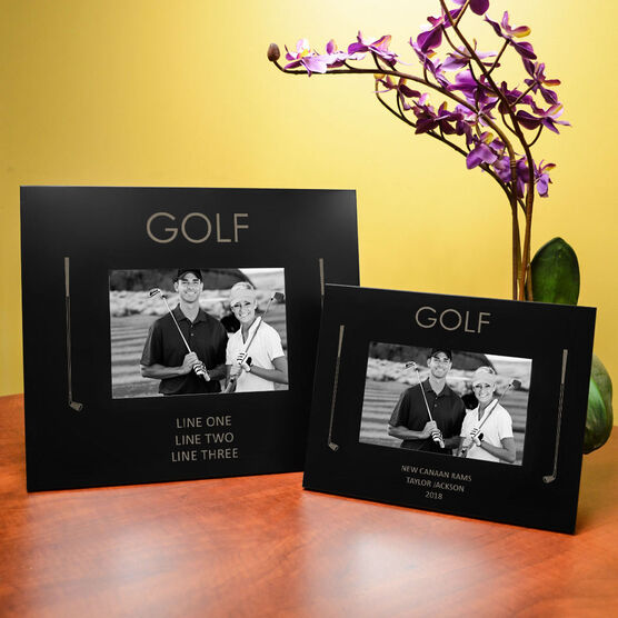 Golf Engraved Picture Frame - Word
