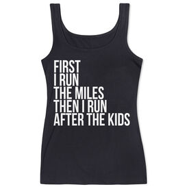 Women's Athletic Tank Top - Then I Run After The Kids