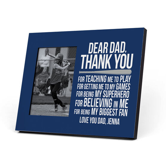 Softball Photo Frame - Dear Dad