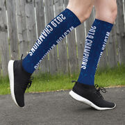Girls Lacrosse Printed Knee-High Socks - Team Name