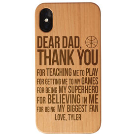 Basketball Engraved Wood IPhone® Case - Dear Dad