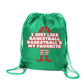 Basketball Sport Pack Cinch Sack - Basketball's My Favorite