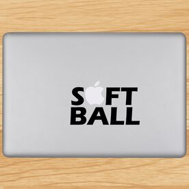 Softball Word Removable ChalkTalkGraphix Laptop Decal