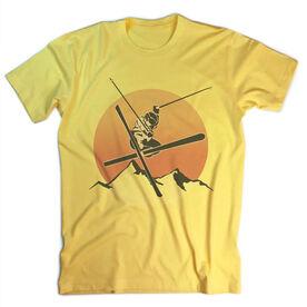 Skiing Vintage T-Shirt - Sunset