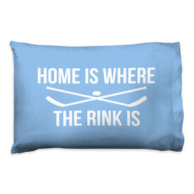 Hockey Pillow Case - Home Is Where The Rink Is