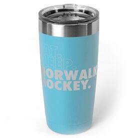 Hockey 20 oz. Double Insulated Tumbler - Personalized Eat Sleep Hockey