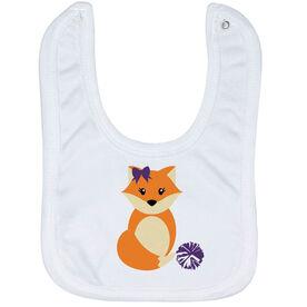 Cheerleading Baby Bib - Cheer Fox