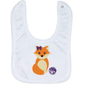 Cheerleading Baby Bib - Cheer Fox