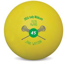 Personalized Awards Lacrosse Ball (Yellow Ball)