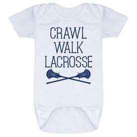 Guys Lacrosse Baby One-Piece - Crawl Walk Lacrosse