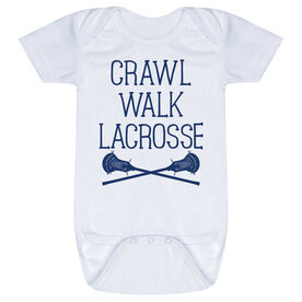 Guys Lacrosse Baby One-Piece - Crawl Walk Lacrosse