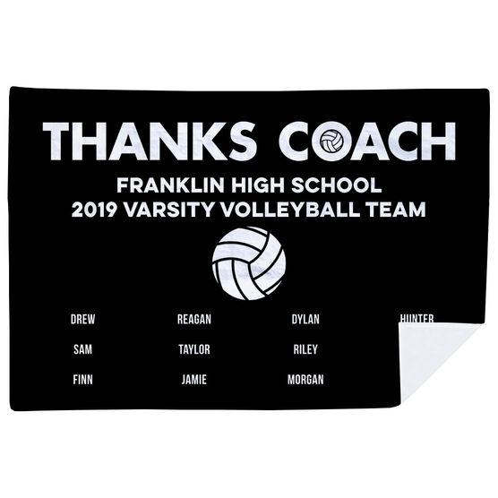 Volleyball Premium Blanket - Thanks Coach (Horizontal)