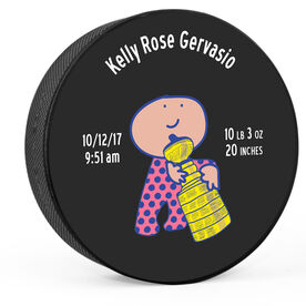 Personalized Hockey Puck Baby Girl With The Stanley Sippy Cup